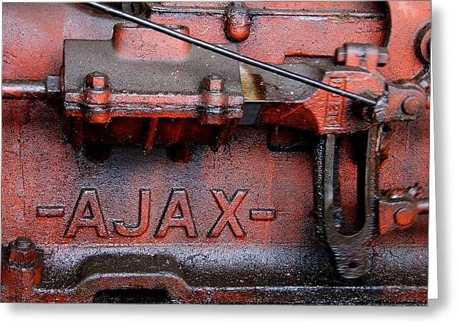 Ajax Engine Greeting Card
