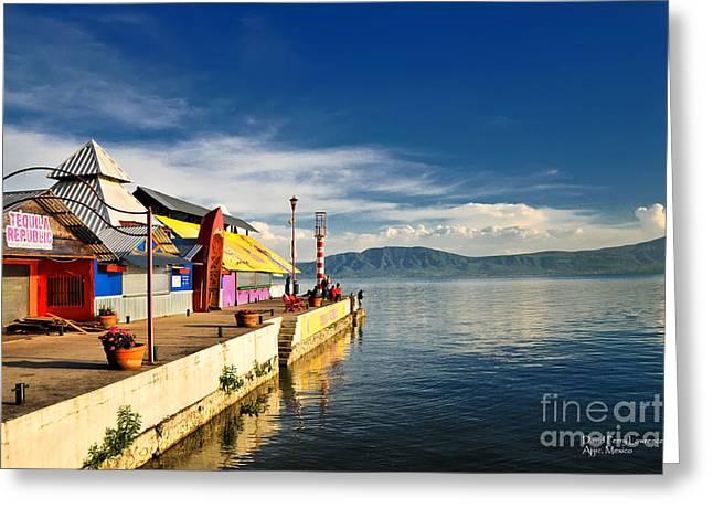 Ajijic Pier - Lake Chapala - Mexico Greeting Card