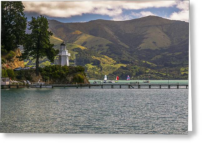 Akaroa Lighthouse Greeting Card