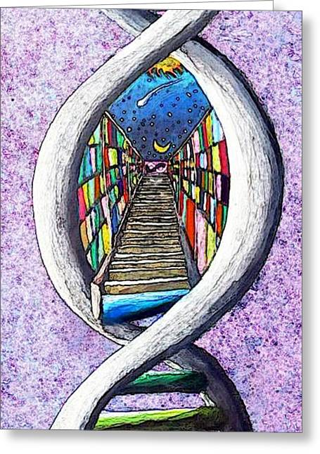 Akashic Record Greeting Card by Corey Holland