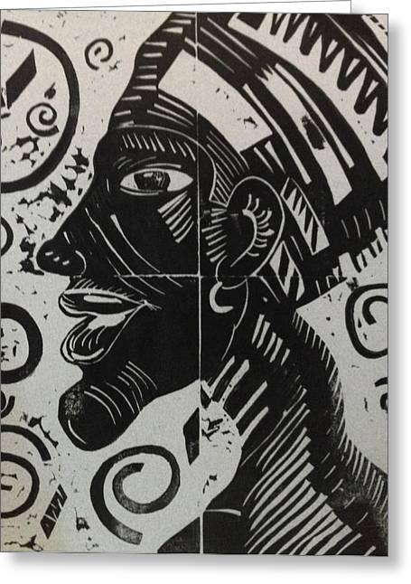Akhenaten Greeting Card by Susan L Sistrunk