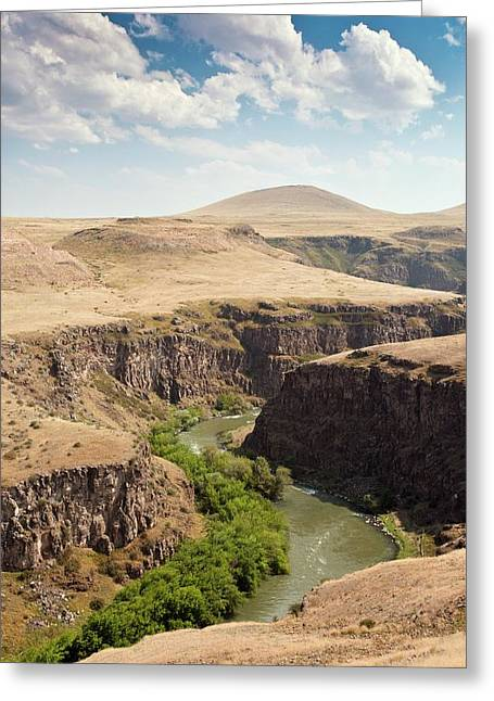 Akhurian River Greeting Card by Bob Gibbons