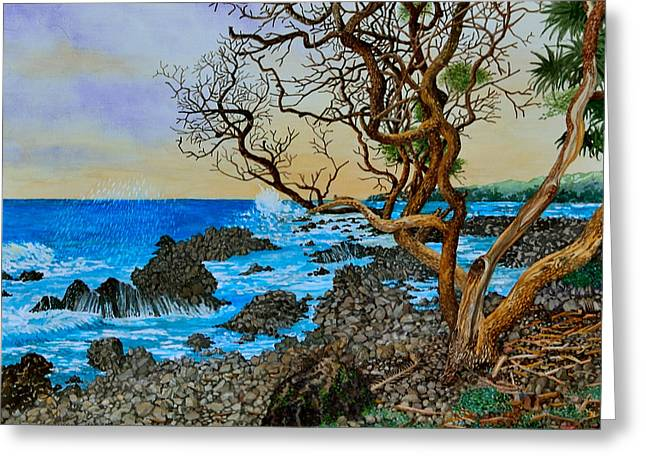 Akini Kinau Shoreline Maui Greeting Card
