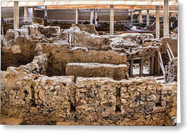 Akrotiri Archaeological Site In Santorini Greeting Card by David Smith