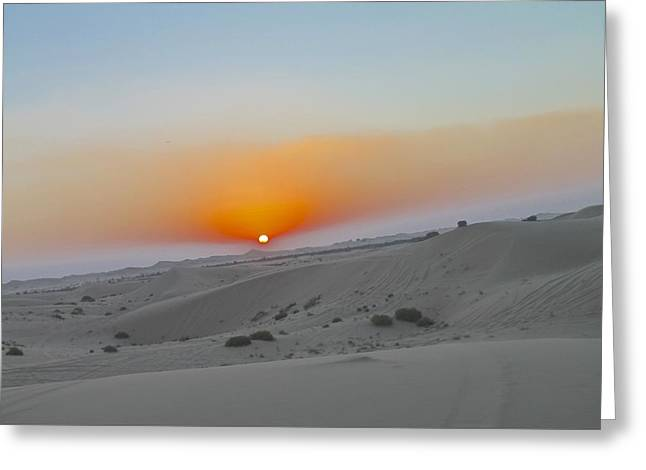 Al Ain Desert 12 Greeting Card