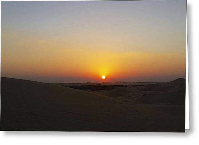 Al Ain Desert 15 Greeting Card