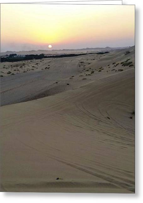 Al Ain Desert 8 Greeting Card