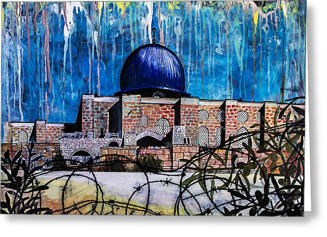 Al-asqa Mosque Palestine Greeting Card by Salwa  Najm