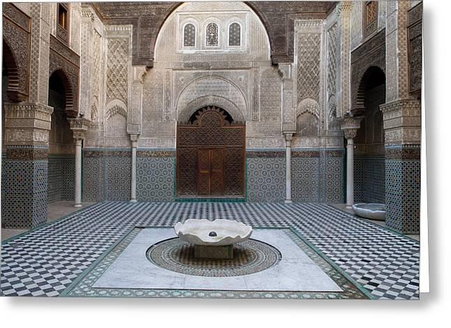 Al-attarine Madrasa Built By Abu Greeting Card