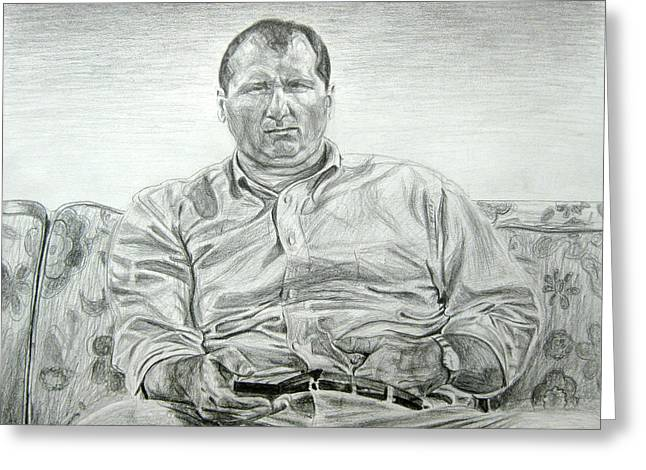 Al Bundy Greeting Card by Michael Morgan