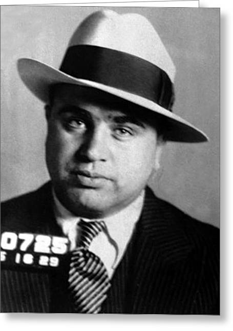 Al Capone, American Mobster Greeting Card by Science Source