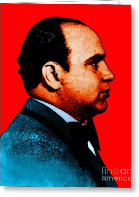Al Capone C28169 - Red - Painterly Greeting Card