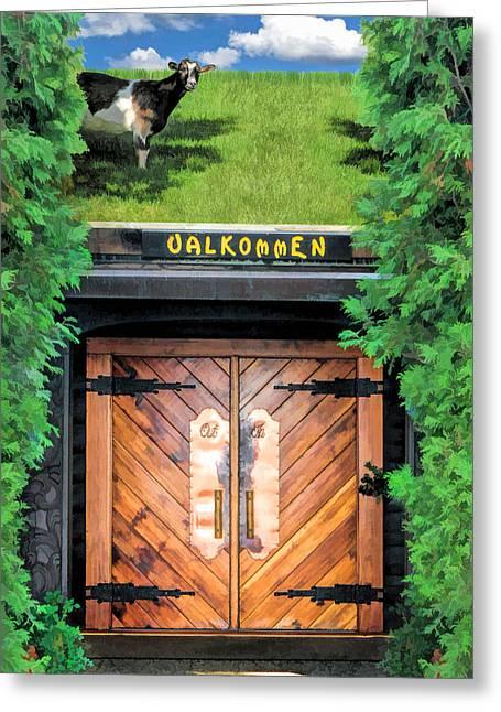 Al Johnsons Swedish Restaurant And Butik Greeting Card