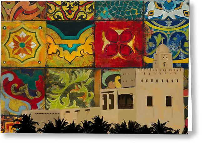 Al Maqtaa Fort Greeting Card by Corporate Art Task Force