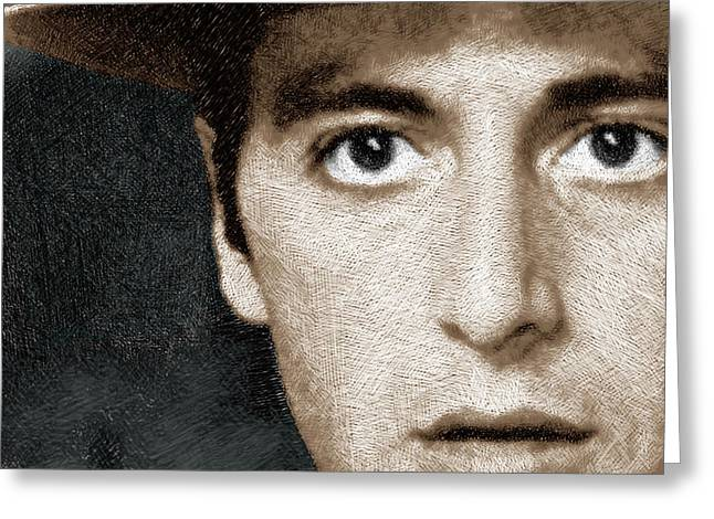 Al Pacino As Michael Corleone Greeting Card by Tony Rubino