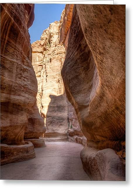 Al Siq The Canyon Greeting Card