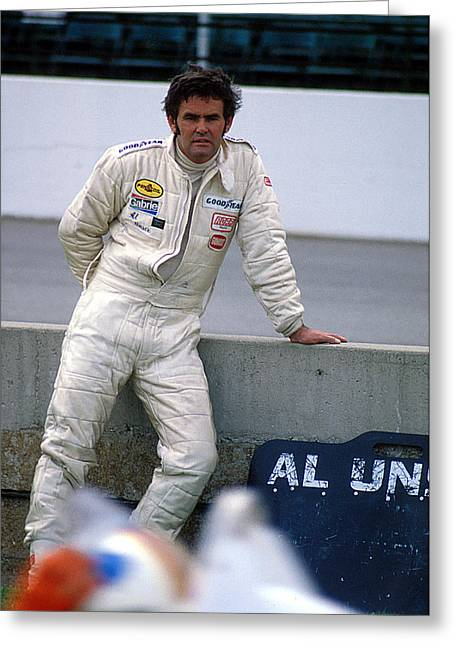 Al Unser At Indy Greeting Card