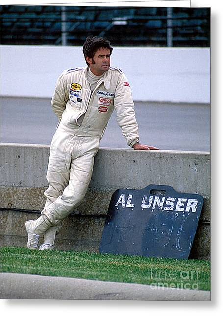 Al Unser Sr. At Indy Greeting Card