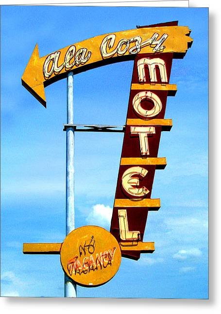 Ala Cozy Motel Greeting Card