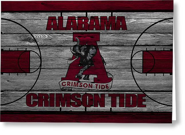 Alabama Crimson Tide Greeting Card by Joe Hamilton