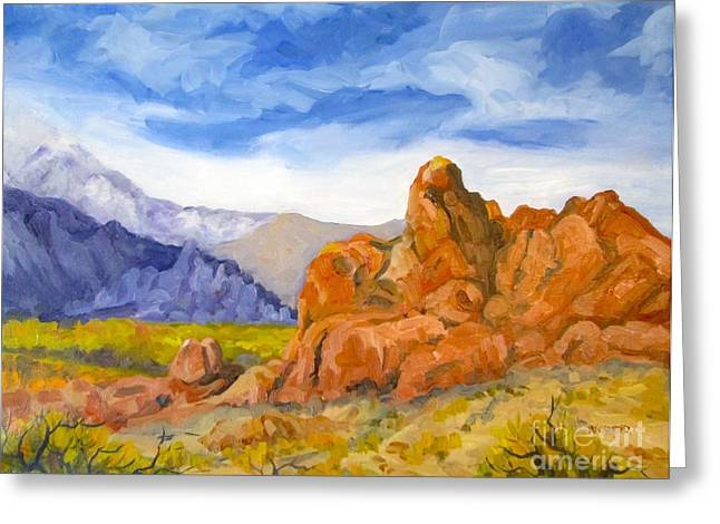 Alabama Hills Looking North Greeting Card