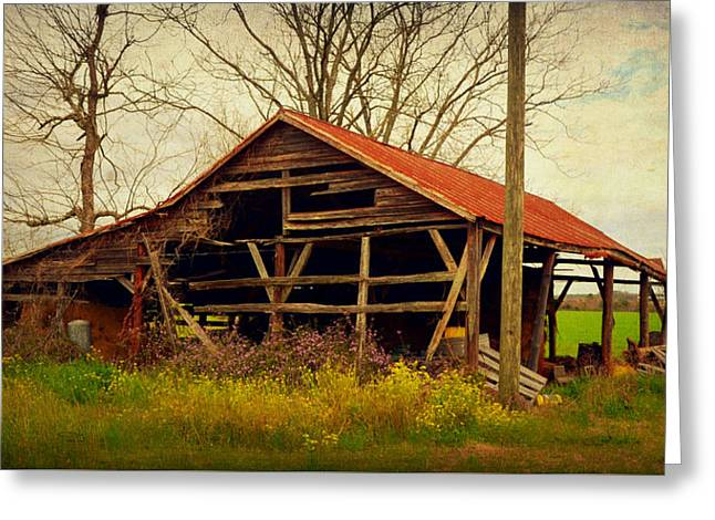 Alabama Pole Barn Greeting Card by Carla Parris