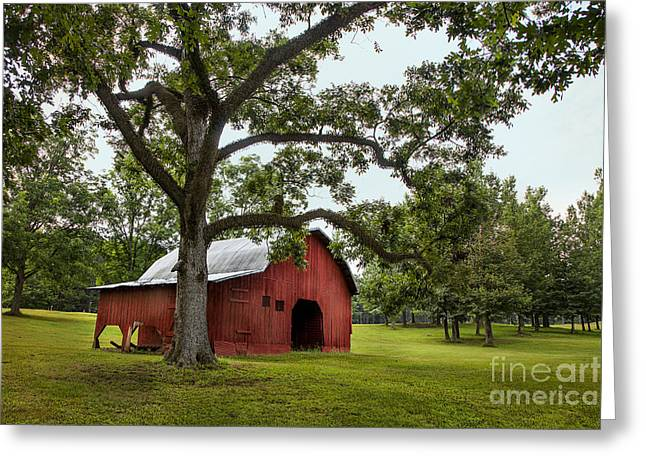 Alabama Red Barn  Greeting Card