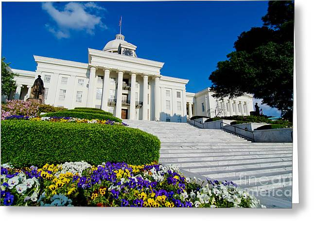 Alabama State Capitol Building Greeting Card by Danny Hooks