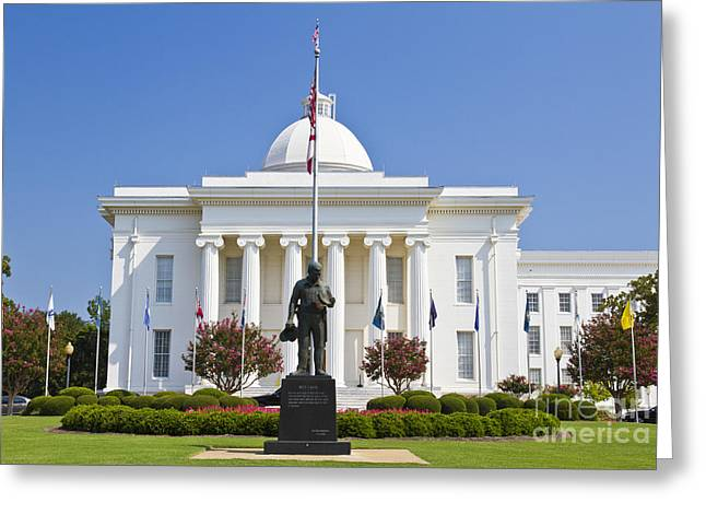 Alabama State Capitol Building Greeting Card by Ohad Shahar