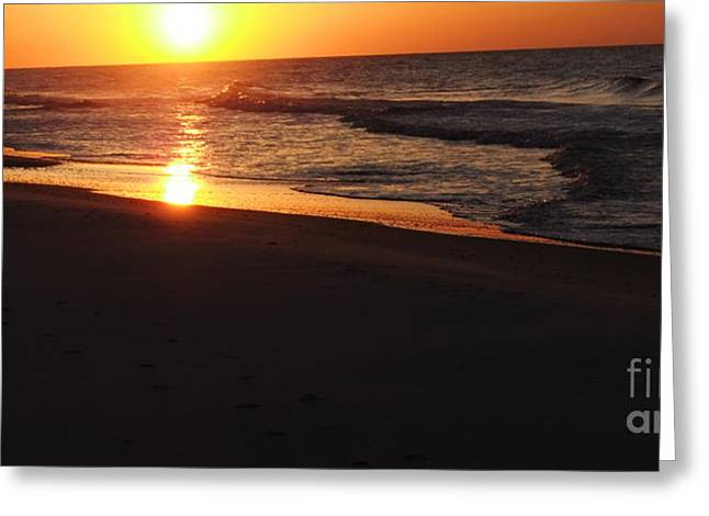 Greeting Card featuring the photograph Alabama Sunset At The Beach by Deborah DeLaBarre