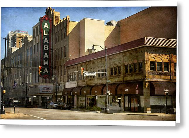 Greeting Card featuring the photograph Alabama Theatre by Davina Washington