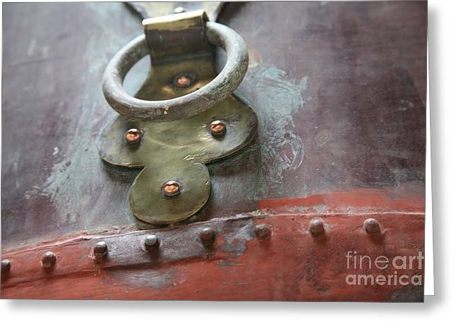 Greeting Card featuring the photograph Alambic Brass Detail by Lynn England