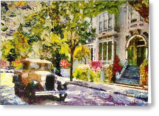 Alameda  Afternoon Drive Greeting Card by Linda Weinstock