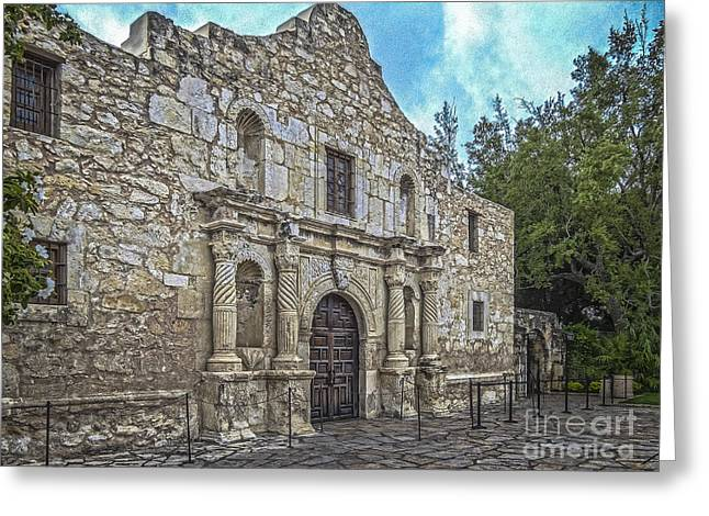 Alamo Hdr Greeting Card