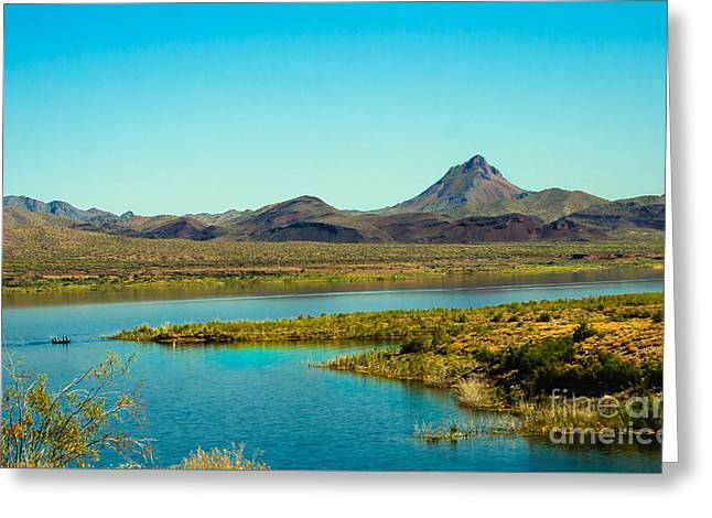 Alamo Lake Greeting Card by Robert Bales