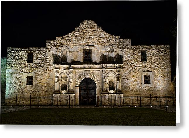 Alamo Mission Greeting Card by Heather Applegate