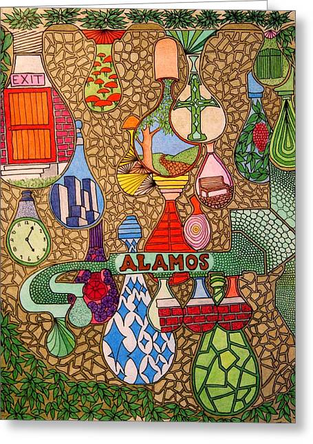 Alamos Lights Greeting Card