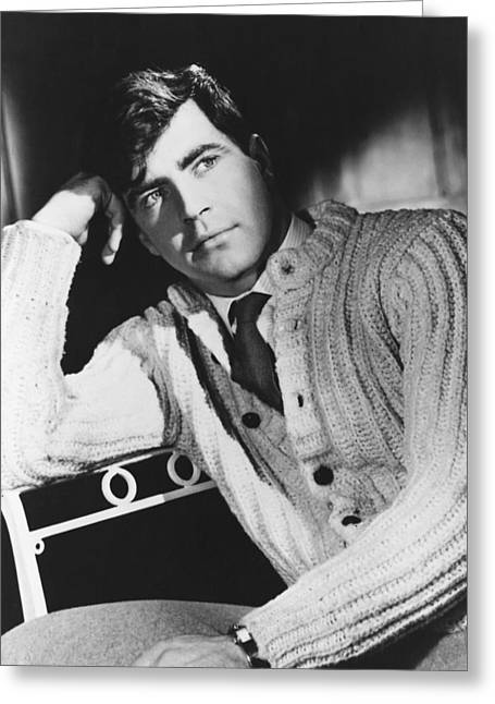 Alan Bates Greeting Card by Silver Screen