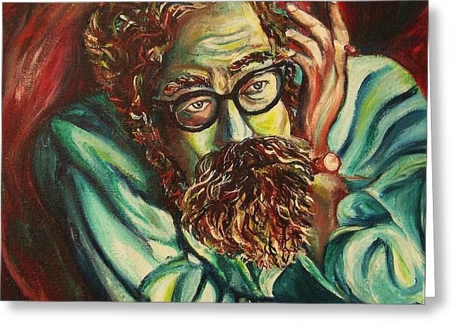 Alan Ginsberg Poet Philosopher Greeting Card