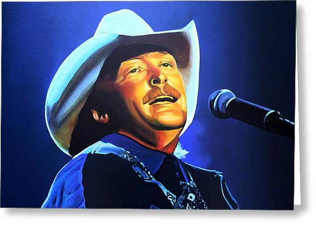 Alan Jackson Painting Greeting Card