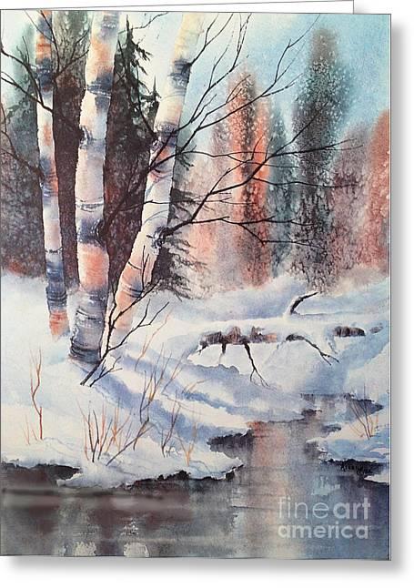 Alaska Birch II Greeting Card by Teresa Ascone