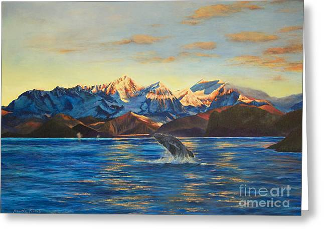 Alaska Dawn Greeting Card by Jeanette French