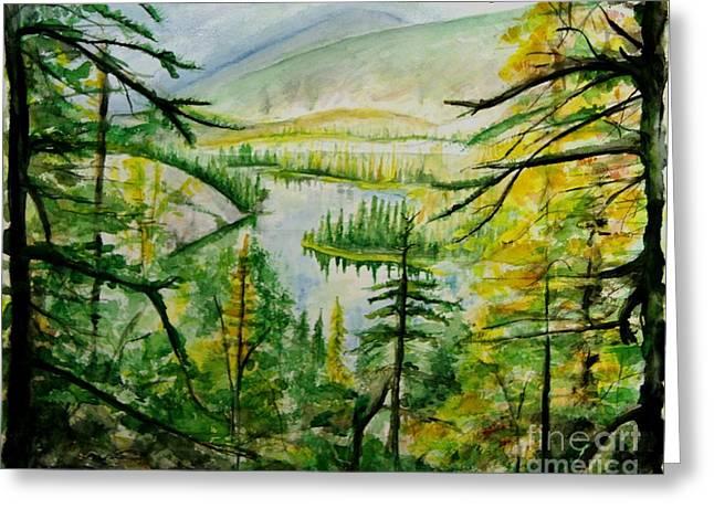 Alaska Dreamin' Greeting Card by Bev Arnold