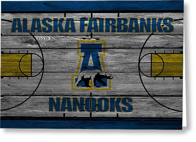 Alaska Fairbanks Nanooks Greeting Card by Joe Hamilton