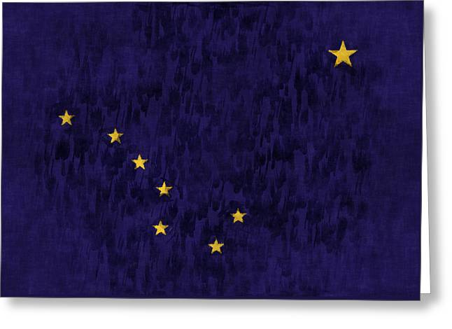 Alaska Flag Greeting Card by World Art Prints And Designs