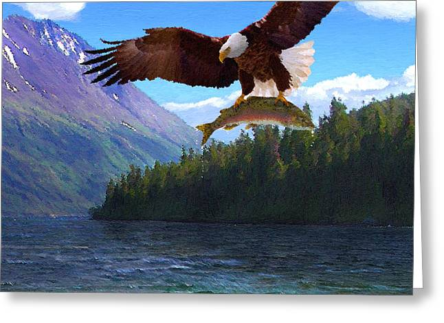 Alaska Fly Fishing Greeting Card