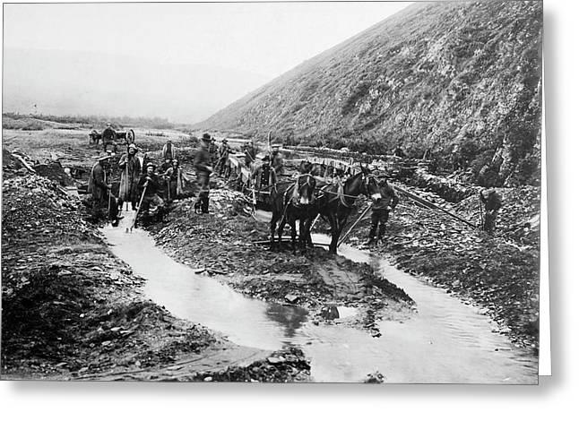 Alaska Gold Mining, C1900 Greeting Card