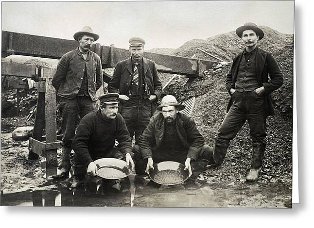 Alaska Gold Rush, 1890s Greeting Card