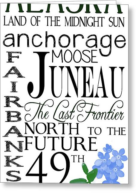 Alaska Greeting Card by Heather Applegate