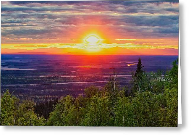 Alaska Land Of The 11 Pm Sun Greeting Card by Michael Rogers